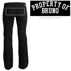 Property of (on back of pants)
