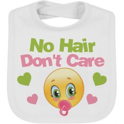 No Hair Don't Care Emoji Bib
