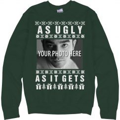 Ugly Christmas Sweater with custom photo