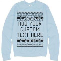 Custom Text Jewish Ugly Sweater