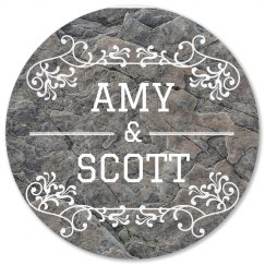 Personalized Couple Flourish Coasters