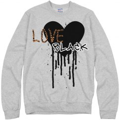 Love Black Sweat Shirt