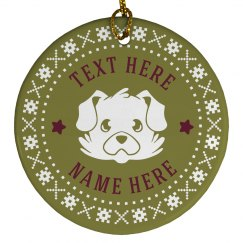 Custom Holiday Dog Pet Gift