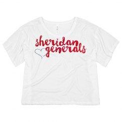 Sheridan Glitter Flowy Crop top #4