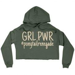 GRL PWR Crop Hoodie