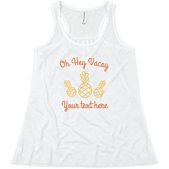 87951792931e8 Custom Oh Hey Vacay Youth Flowy Racerback Tank Top