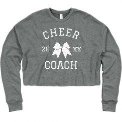 Cheer Coach Custom Crop Sweatshirt