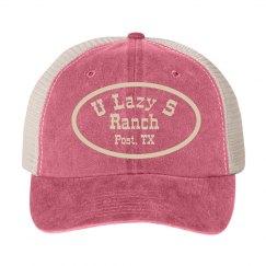 U Lazy S Cotton Twill Snapback Trucker Cap