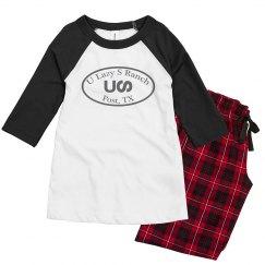 U Lazy S Circle Bella + Canvas Youth Pajama Set