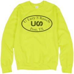 U Lazy S Jerzees UNISEX Neon Crewneck Sweatshirt