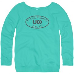 U Lazy S LADIES Relaxed Fit Slouchy Wideneck Sweatshirt