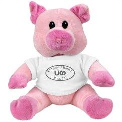 U Lazy S Pink Piggie Stuffed Animal