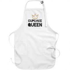 Cupcake Queen Metallic Apron