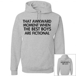 THAT AWKWARD MOMENT grey hoodie