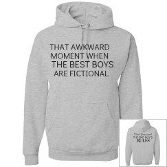 THAT AWKWARD MOMENT grey hoodie
