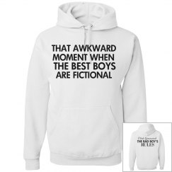 THAT AWKWAR MOMENT white hoodie