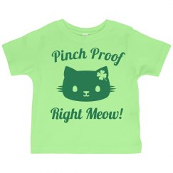 Pinch Proof St Pat Cat Pun Kids
