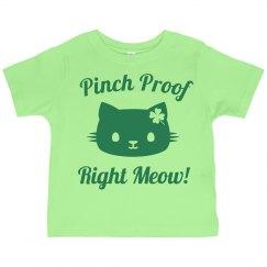 Pinch Proof St Pat Cat Pun Kids