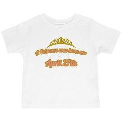 Arianna's princess shirt