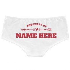 Property Of Name Here Custom Undies