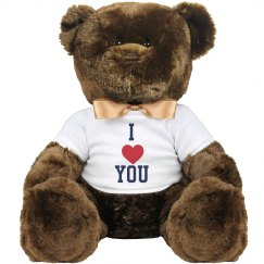 GSC I Love You 14 Inch Teddy Bear Stuffed Animal