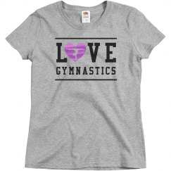Metallic Gymnastics Love Trendy Tee