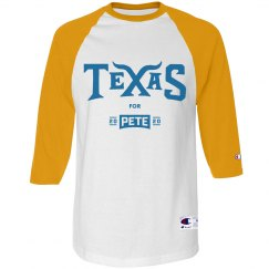 Texas for Pete - Yellow/Royal Blue - 3/4 Sleeve Raglan