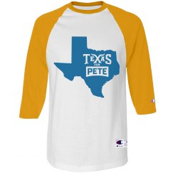 State Logo - Yellow/Royal Blue - 3/4 Sleeve Raglan