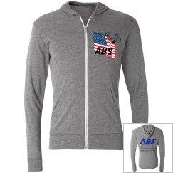 Active Body Systems- Lightweight zip Hoodie Sweatshirt