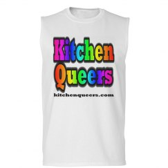 Kitchen Queers Rainbow Logo Sleeveless T-Shirt