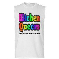 Kitchen Queers Rainbow Logo Sleeveless T-Shirt