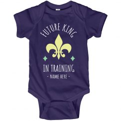 Future King in Training Mardi Gras Onesie