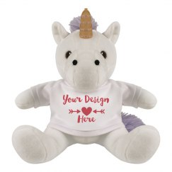 Custom Design Valentine's Day Unicorn Plush