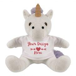 Custom Design Valentine's Day Unicorn Plush