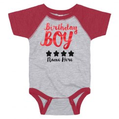 Metallic Birthday Boy Onesie