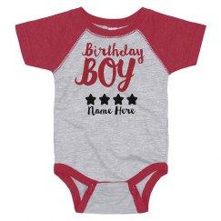 Metallic Birthday Boy Onesie