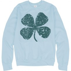 Vintage Shamrock Four Leaf Clover St Patricks Sweater