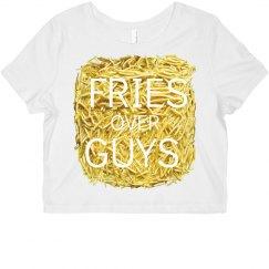 Fries Over Guys Crop Top