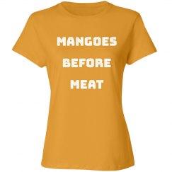 Vegetarian Mangoes Before Meat