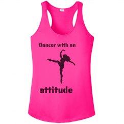 Dancer with an Attitude - Racerback tank