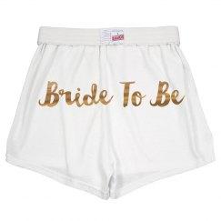 Gold Metallic Bride To Be Gift