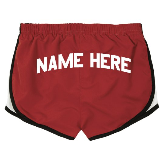 Personalized Black Cheer Butt shorts Girls Toddler Youth Sizes