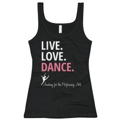 Live Love Dance Ladies Tank APA