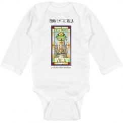 Infant Born in the Villa Logo Onesie