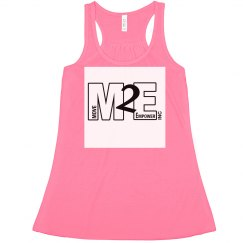 Ladies Flowy Racerback Tank Neon Pink