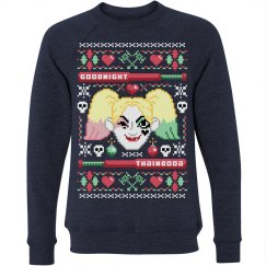 Ugly Halloween Sweater Harley Quinn