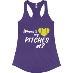 Softball Pitches Tank