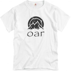 OAR distressed black logo