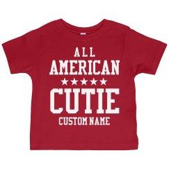 Custom Name All American Cutie