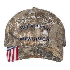 """""""All For A Larp"""" WWG1WA Camoflauge Hat / Cap"""